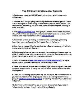 Top 10 Study Strategies