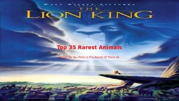 Top 35 Rarest Animals in the world - Power Point
