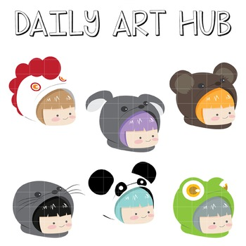 Top Cute Hoodie Animals - Great for Art Class Projects!