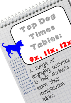 Top Dog Multiplication Tables: 9x, 11, 12x