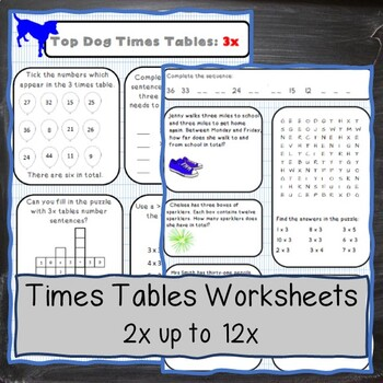 Top Dog Multiplication Tables: A range of exciting activit
