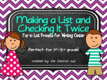 Top Ten List Prompts for Writing Center
