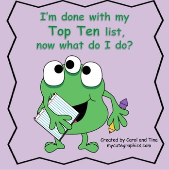 """Top Ten Lists:  """"More Than Just A List!"""""""