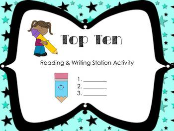 Top Ten Literacy Station or Center Quick and Easy Set Up!