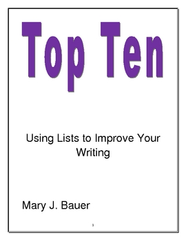 Top Ten: Using Lists to Improve Your Writing