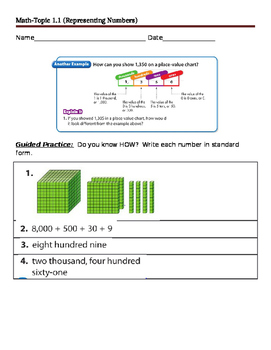 Topic 1.1 Representing Numbers Handout Packet