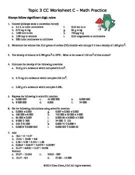 Topic 3 CC Worksheet C math practice