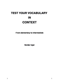 Topic Based Vocabulary Tests - From elementary to intermed