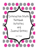 Topic Three Math Notebook