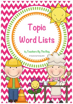 Topic Word Lists (Australian Spelling)