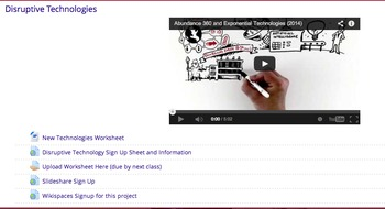 Topics in Technology - Digital Literacy, E-Portfolios, Dis