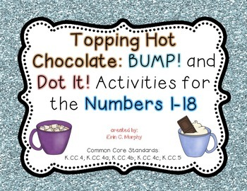 Topping Hot Chocolate: Number BUMP and DOT for 1-18.