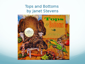 Tops and Bottoms Vocabulary, Journeys Lesson 12