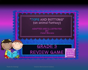 Tops and Bottoms by: Janet Stevens INTERACTIVE REVIEW GAME
