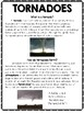 Tornadoes Passage and Text Features Questions Set with Con