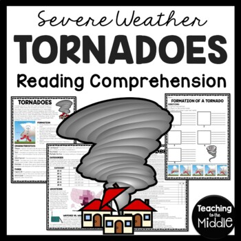 Tornadoes Reading Comprehension Worksheet; Weather; No-Prep