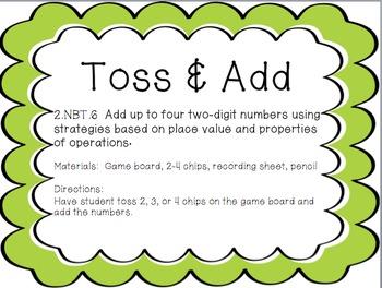 Toss & Add: 2.NBT.6