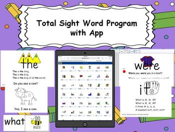 A Complete Sight Word Program with App