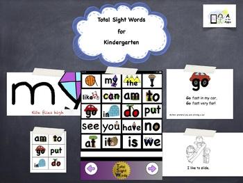 Total Sight Words Kindergarten Program