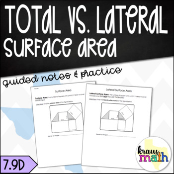 Total Surface Area VS Lateral Surface Area