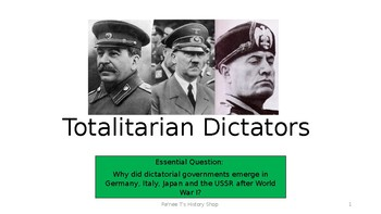 Totalitarian Dictators PowerPoint (WW2)
