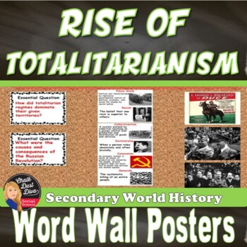 Totalitarianism WORD WALL Posters (World History)