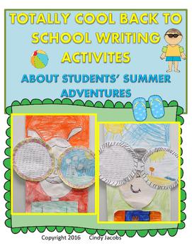Totally Terrific Back to School Writing Activities; Creati