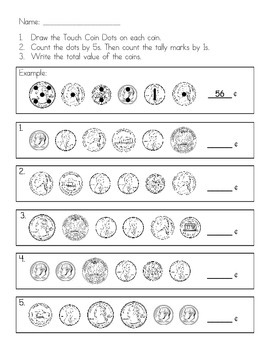 Touch Coins - Beginning Money Practice (Quarters, Dimes, N
