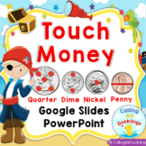 Touch Money Counting Coins Horizontal