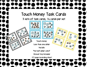 Touch Money Task Cards