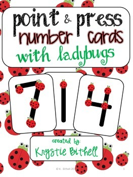 Number Cards with Ladybugs 1-9 Point and Press