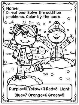 Touch Point Worksheet Winter Free