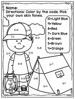 Touch Point Worksheet Summer Free