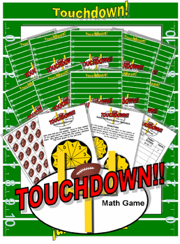 Touchdown Math Addition Subtraction Board Game