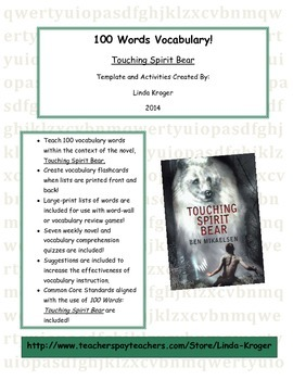 Touching Spirit Bear-100 Words Flashcards, Quizzes, Word W