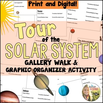 Tour of the Solar System Introduction to the Planets Activity