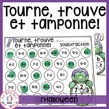 Tourne, trouve et tamponne! L'Halloween (FRENCH Halloween
