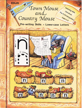Town Mouse and Country Mouse Pre-writing, Lower-case Letters