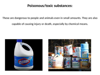 Toxic Substances PowerPoint with Scaffolded Notes Sheet