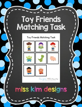 Toy Friends Matching Folder Game for students with Autism