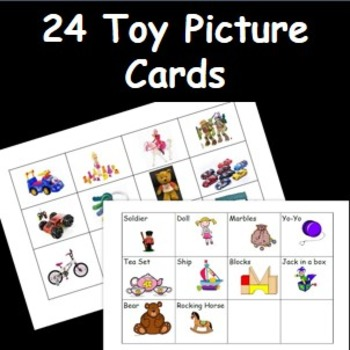 Toy Picture Cards- Old and New Toy Images