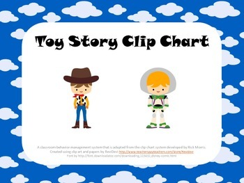 Toy Story Inspired Clip Chart