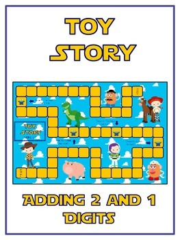 Toy Story Math Folder Game - Common Core - Adding 2 and 1