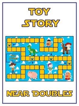 Toy Story Math Folder Game - Common Core - Adding Near Doubles