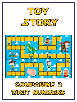 Toy Story Math Folder Game - Common Core - Comparing 3 Dig