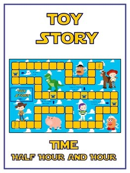 Toy Story Math Folder Game - Common Core - Telling Time Ha