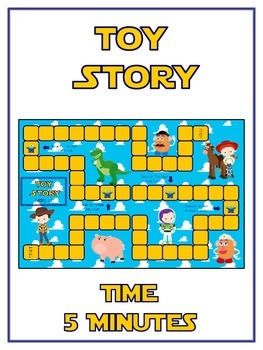 Toy Story Math Folder Game - Common Core - Telling Time wi