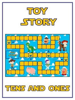 Toy Story Math Folder Game - Common Core - Tens and Ones -
