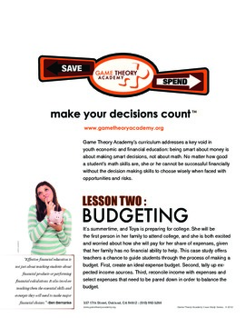 Toya: Budgeting