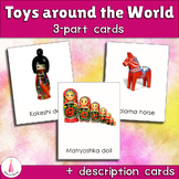 Toys around the World Montessori 3-part Cards